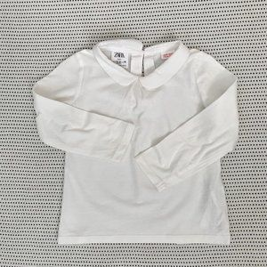 Zara Long Sleeved Shirt w/ Peter Pan Collar